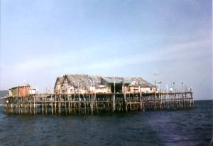 this is a Kelong, A lodge in the ocean. Great fishing too!